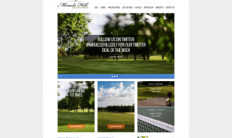 Miracle Hill Golf + Tennis Center - Website & Logo Design, v2.0
