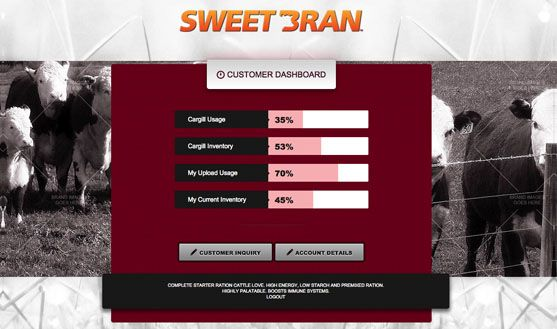 Cargill SWEETBRAN Customer Portal - 3